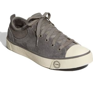 •UGG• Evera Suede Gray Shearling Lined Sneakers 6.